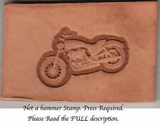 3D Motorcycle stamp for Arbor Manual or Hydraulic press. Delrin laser engraved