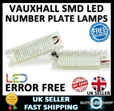 VAUXHALL ZAFIRA B WHITE SMD LED NUMBER PLATE LIGHT LAMP UPGRADE BULBS XENON