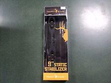 """Trophy Ridge 9"""" Static Stabilizer w/ Braided Wrist Sling & Bracket - Black - NEW"""
