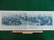 1914 RUSSIAN COSSACKS ATTACK GERMAN BAGGAGE EASTERN FRONT (DOUBLE PAGE) WW1 WWI