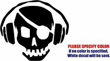 Vinyl Decal Sticker - Pirate Radio Headphones Car Truck Bumper Window JDM Fun 6""