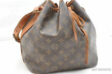 Authentic Louis Vuitton Monogram Petit Noe Shoulder Bag LV 26378