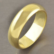 COOL 9K Yellow Gold Filled Men's/Unisex Smooth Ring,Size 10,Z2478