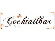 METALLSCHILD Blechschild Türschild COCKTAILBAR Shabby Vintage  Hochzeit Wandschi