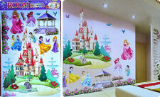 Princess Dreaming Castle Wall Decal Art Vinyl Sticker Kids Girls Nursery Decor