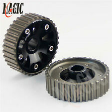 CAM GEARS Pulley KIT for HONDA CIVIC B16A B18C INTEGRA DC2 88-00 2PCS BLACK