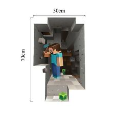 Mine craft Wall Vinyl Sticker Decal Art 3d Decor Cling Name Decals Bedroom Steve