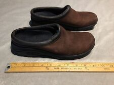MERRELL JUNGLE PRIMO Women's Leather Slip On Slide Clog Mule US 8.5 Brown
