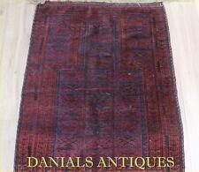 ANTIQUE GREAT HANDWOVEN BALUCH PRAYER RUG.