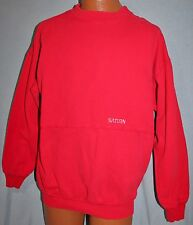 Vintage SATURN Factory Employee Red SWEATSHIRT L Cars Automobile Vehicle WEK