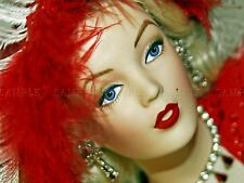 PHOTOGRAPHY COMPOSITION GLAMOUR DOLL FACE FEATHER FACE POSTER PRINT BMP10423