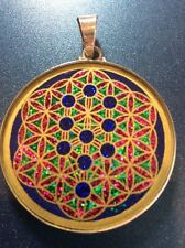 """Tree Of Life Flower Of Life Lapis Necklace 1.5/8"""" Pendant Sterling Silver #gift"""