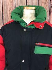 Triple FAT Goose Down Waterfowl Coat Black Red Hood Turbo Sportswear Men's  XL