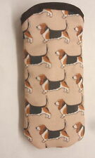 BASSETT HOUNDS ALL OVER- GLASSES CASE - cotton- ideal small gift