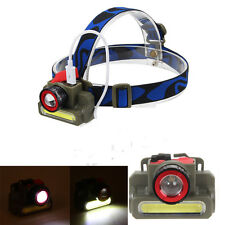 Rechargeable Q5 + COB LED Zoom Headlamp Headlight Flashlight Head Torch Hiking