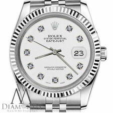 Rolex 26mm Datejust White Diamond Classic Stainless Steel & 18K Gold Ladies Size