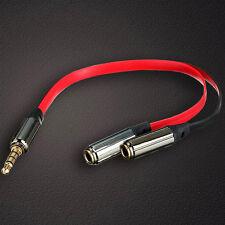 Klinke Y Kabel 3,5mm Stecker auf 2x Buchse Stereo Kopfhörer Verteiler Kabel