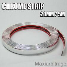 New 20mm Chrome Car Styling Moulding Strip Trim Adhesive Car Boat Van 5 Metre
