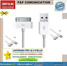 Cavo Dati Caricabatterie USB grigio 2mt (IPAD-M) Linq per Apple iPhone 3/4S/iPad