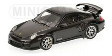 MINICHAMPS 2011 Porsche 911 GT2 RS Black w/Silver Wheels 1:18 LE 504 pcs New!