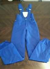 VTG Bogner Snow Ski Pants Bibs Suit Womens Size 8 Blue