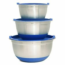 Aarrt Heavy Duty Large Stainless Steel Bowls with Lids, Silicone Bottom Bowls...