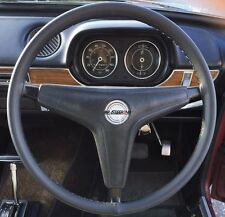 FITS 1968-1974 FORD ESCORT MK1 BLACK LEATHER STEERING WHEEL COVER BEST QUALITY