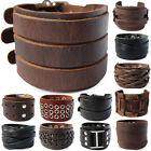 ECHT LEDERARMBAND-BREIT Surferarmband Unisex ! Bracelet Leather Armband Herren