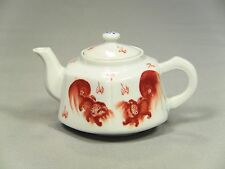 * Republic Period SIGNED Chinese Fine Porcelain Hexagonal Teapot