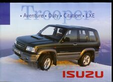 Y2K Year 2000 Paris Auto Show Brochure:  Isuzu Trooper Adventure Duty Citation