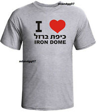 I love Iron Dome Support Israel T-Shirt IDF Zahal Hebrew Shirt SIZES S-2XL