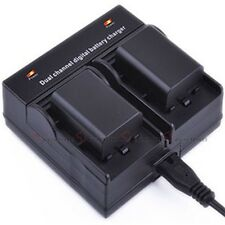 Dual Channel Battery Charger For BP-511 BP-511A/512/522/535 EOS 50D 40D CB-5L