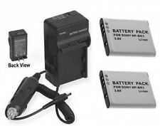 TWO 2 Batteries + Charger for Sony MHS-PM5K/W MHS-PM5K/L MHS-PM5K/P MHS-PM5K/V