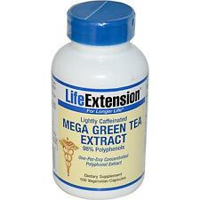 Mega Green Tea Extract - Lightly Caffeinated - 100 Vcaps by Life Extension