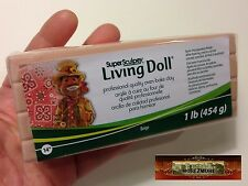 M00382 MOREZMORE Living Doll BEIGE 1 lb Polymer Clay Super Sculpey T20A