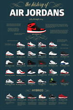 "TY02675 Michael Jordan Nike Air Jordan Brand Hot Canvas Big 14""x21"" Poster"