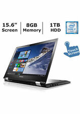 "Lenovo Flex 3 15.6"" Touchscreen Laptop Core i7 8 GB RAM 1 TB HDD Win10"
