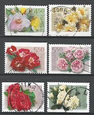 ˳˳ ҉ ˳˳NO02 Norway Norge 3 Complete sets 2001-03 different Flowers Roses Colors
