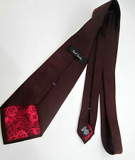 "Paul Smith Damson Silk Tie 9cm Classic Blade ""MAINLINE"" Made in Italy"