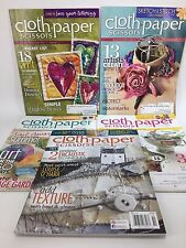 Cloth Paper Scissors 5 Back Issues Magazines Collage Mixed Media Art 2013 46-50