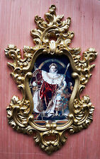 Napoleon portrait in baroque frame. Var.1. Wall or Furniture mounts/decor.