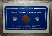 Display Case (no coin) for the Rare 2009 Kew Gardens 250th Anniversary GB 50p
