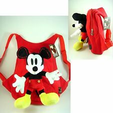 LATEST Disney Mickey Mouse Kids Soft Plush Doll Backpack Rucksack Bag + CHARM