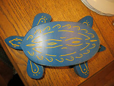 Vintage Estate Wood TURTLE Pull Toy-Legs Wiggle with Movement! Native Painted