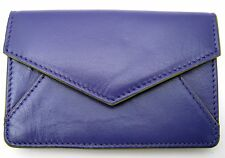 ILI LEATHER ENVELOPE BUSINESS CARD or CREDIT CARD CASE HOLDER ~ PURPLE ~ NEW