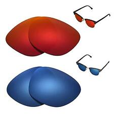 WL Polarized Fire Red+Ice Blue Lenses For Ray-Ban Clubmaster RB3016 51mm