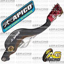 Apico Black Red Rear Brake Pedal Lever For Honda CRF 450R 2007 Motocross Enduro