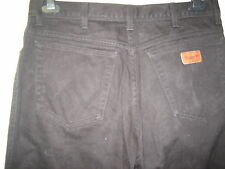 -16 ) MENS WRANGLER BLACK RELAXED FIT JEANS  ZIP FLY   W 36 LEG 32