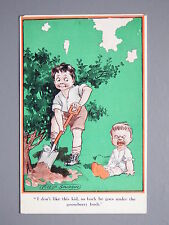R&L Postcard: Comic, Fred Spurgin Inter Art Kidaoo, Crying Baby Gooseberry Bush
