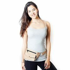 Steam Punker Travel Leather Belt/fanny Pack-camel-70135